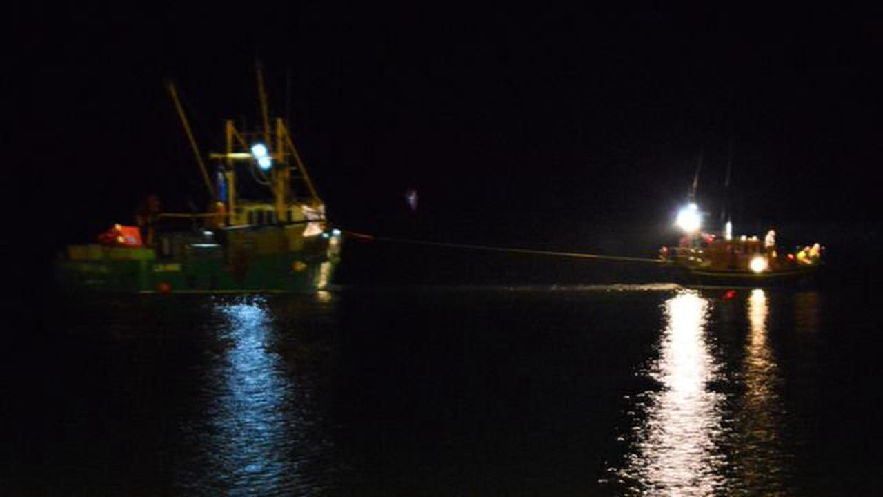 Lifeboat crews called to help sinking fishing boat off Norfolk coast