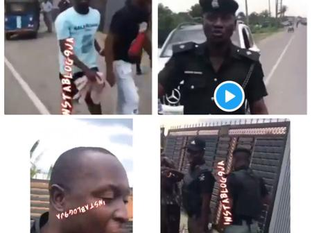 Check Out What Residents Did To A Trigger-Happy Police Who Almost Killed A Motorist In Warri (Video)