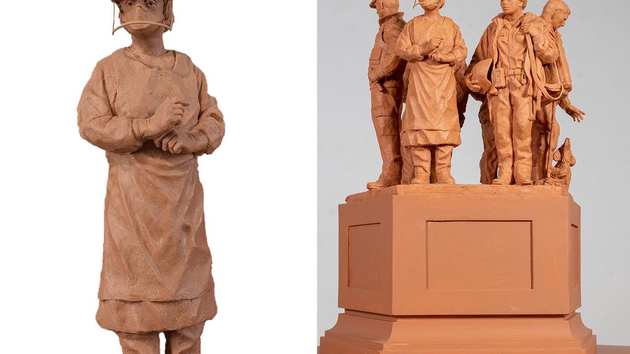 Nurse who survived Covid is being immortalised in emergency services sculpture