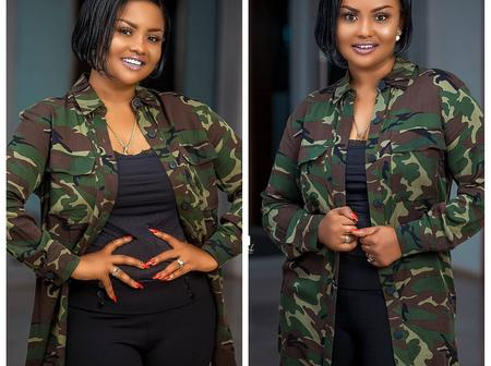 Nana Ama McBrown Causes A Stir on The Internet With Her Lavish Military Outfits