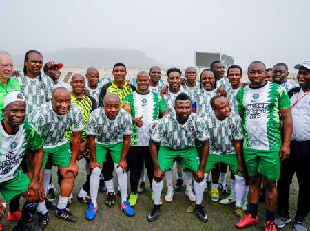 Football fans react after 2023 president candidate host ex-Super Eagles stars in Confluence town