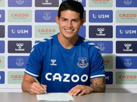 EPL - Everton completes signing of James Rodriguez on a 2 years deal