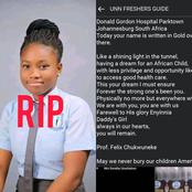 Father of Chisom Chukwuneke the beautiful Best WAEC Result Girl Pens Down Heartbreaking Tribute