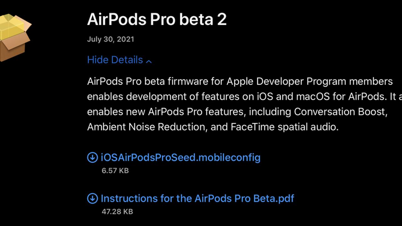 AirPods Pro: neue Beta-Firmware bringt Conversation Boost