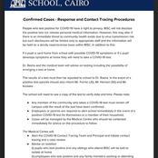 مصير الدراسة في مصر بعد ظهور أول إصابة في مدرسة دولية