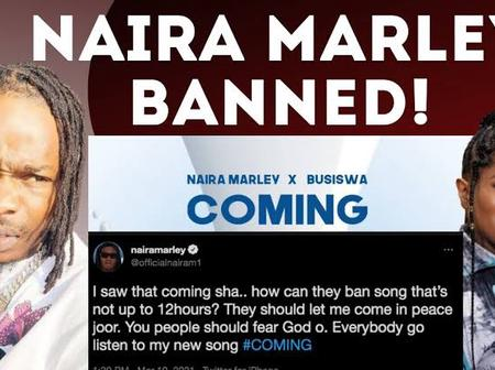Naira Marley's new song 'Coming' was banned barely 24 hours after being released