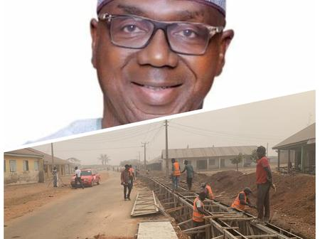 Road construction is one of the top priority of the kwara state Governor (see photos)