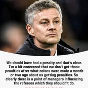 Why Manchester United don't have more Penalty kick like before:- ole Gunnar Solskjaer