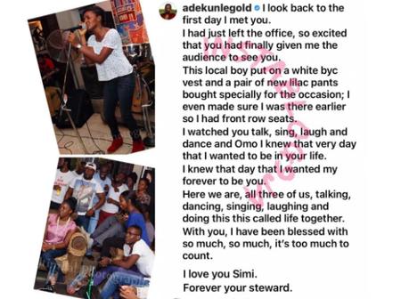 Adekunle Gold shares lovely story of how he met Simi on their 2nd wedding anniversary