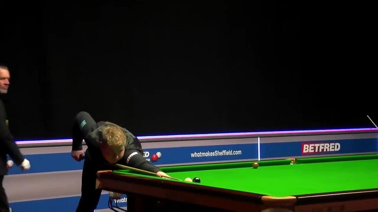 Watch 'most extraordinary' snooker shot ever in World Championship qualifier