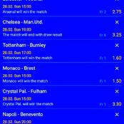 Tonight Best VIP Multibet teams with 144.45 Odds to Bank on and Win Huge Cash i.e Manchester United