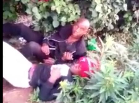 Drama After Two People are Busted in a Bush Doing This