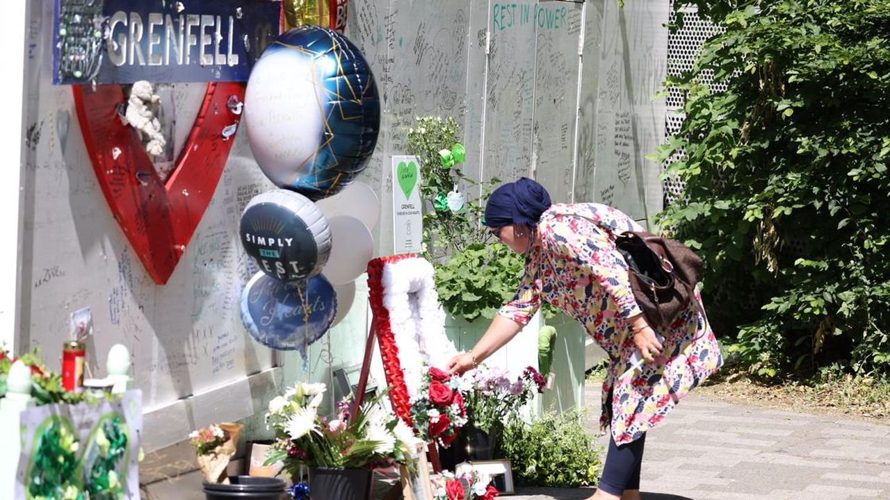Pictures show tearful scenes at Grenfell memorial 4 years after fire