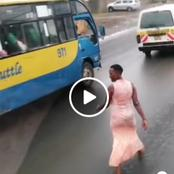 [Video]: Emotions Run High After A Video Of A Lady Blocking Vehicles On A Highway Goes Viral