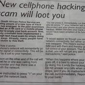 Beware! New cellphone bank hacking