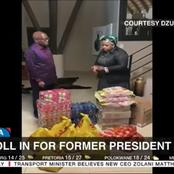 Dudu Myeni Donates Food To Jacob Zuma's Guests