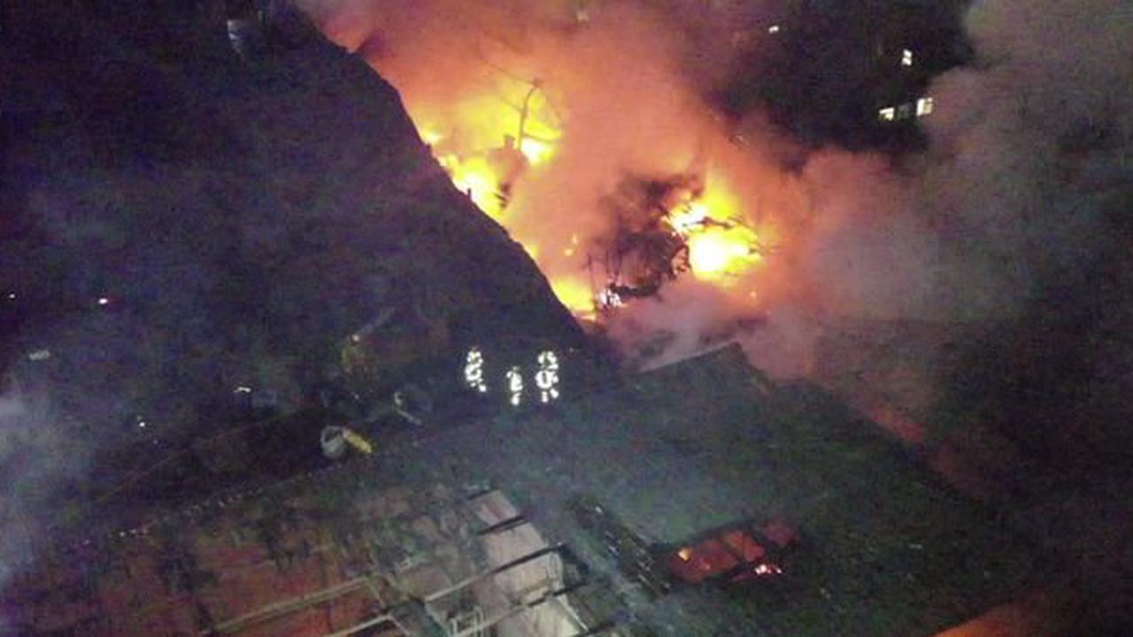 Watch dramatic drone footage of massive factory fire now declared 'accidental'