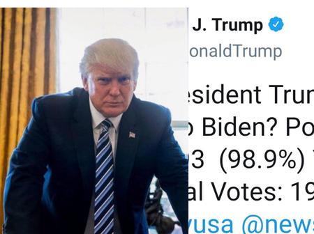 After Poll Results Show 98.9% Of People Say Trump Should Not Concede To Biden, See What Trump Said