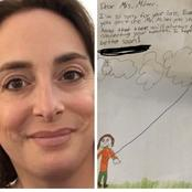 After this Female teacher lost her husband on Sunday, check out the letter her student sent to her