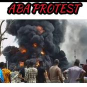 Aba Protest Was On Fire - Check out 32 Photos Of What happened In Aba Yesterday