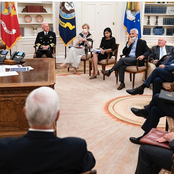 Photos: President Trump hosted the US COVID-19 task force last night.