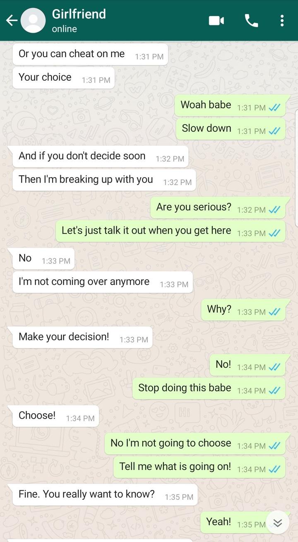 """Cheat On Me Or We Breakup"" - Lady Tells Boyfriend (Screenshots Of Chats) 3"