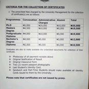 AAUA Releases Notice For The Collection Of Phd, Msc, Bsc, Other Certificates, Gives Criteria