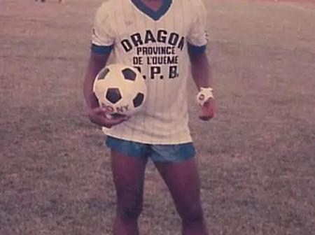 Throwback Photo Of Ghana Football Legend, Abedi Pele Ayew At Benin Side, Dragon Pops Up