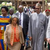 Photos of the only president in Africa who is a woman.
