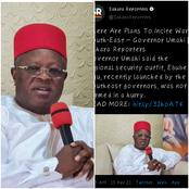 Why Can't You Learn from South-West Zone Governors— Southerner Reacts Over Governor Umahi's Claim