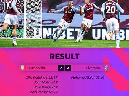 See the 57 year old Record Aston Villa broke today following the 7-2 win over Liverpool