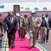 Similarity Between the Arrival of Samia Suluhu in Uganda and Yoweri Museveni in Tanzania (Photos)