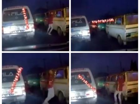 Moment A Traffic Robber Snatches Phone From A Bus Passenger In Lagos (Video)