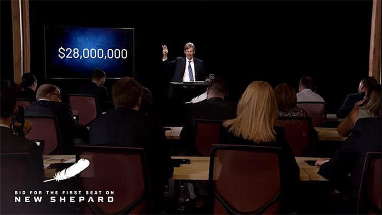 Unidentified bidder pays $28 million in auction to join Bezos for July space flight