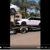 More than 10 of Bushiri's EXPENSIVE cars being transported by TRUCKS out of his house in Mzansi,