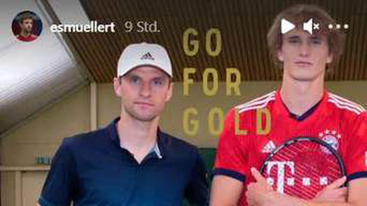 Thomas Müller fiebert mit Olympia-Star Zverev im Bayern-Trikot - und lobt sich plötzlich selbst