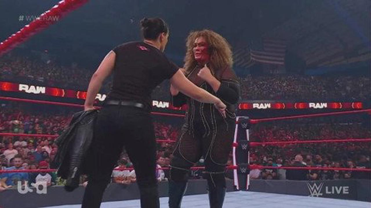 WWE star Nia Jax covered in blood after suffering gruesome cut above her eye