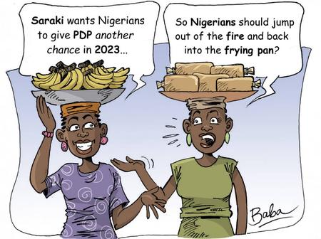 After Saraki Begged Nigerians To Forgive PDP, See People's Reactions In This Cartoon
