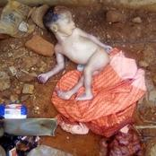 A new born baby was discovered today inside gutter.
