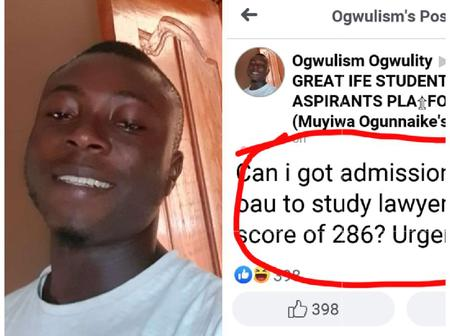 Check out The Grammatical Blunder OAU Law Aspirant Wrote on Facebook That Got People Talking