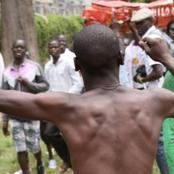 'Alipatikana' A Man Was Stripped Naked In Kitale For Refusing To Pay Bar Bill And Then This Followed