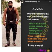 Can You Find a True Life Partner on Social Media? Singer Harrysong Gives the Perfect Answer