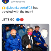 Fans react after Barcelona President, Joan Laporta did this with the team ahead of Madrid match.