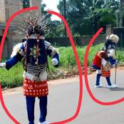 See the masquerades that showed up in Obollo, Enugu State during their festival today
