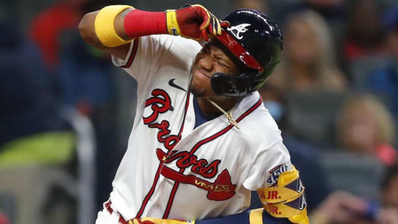 Ronald Acuna Jr. homers as Braves split DH with Mets