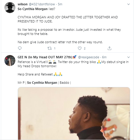 cynthia morgan latest news