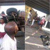 See What A Truck Driver Did To The Recently Commissioned Flyover In Rivers State