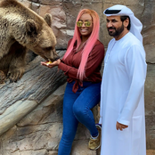 Photos Of DJ Cuppy, Davido, Toke Makinwa, Mompha, And Others Playing With Wild Animals