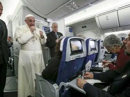Just in: Check Out the reason why the pope Francis has no private jet