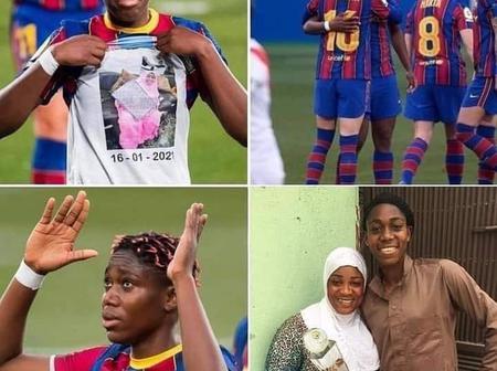 La joueuse du Barça, Asisat Oshoala a perdu sa mère, elle a marqué 2 buts hier qu'elle lui a dédié